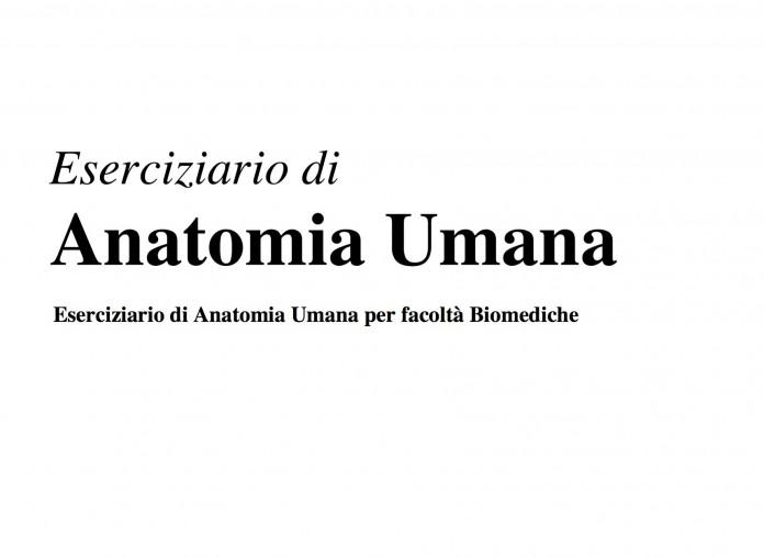 Eserciziario Anatomia Umana