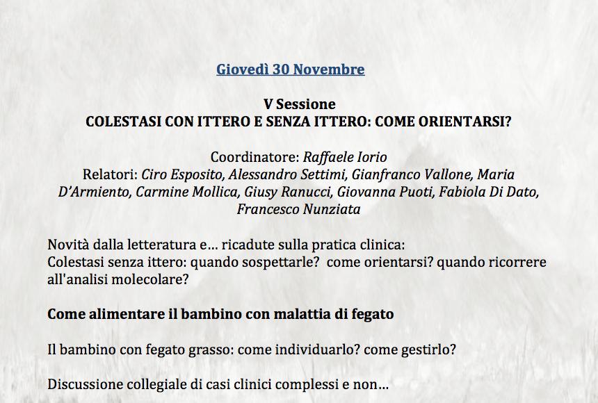 Corso di Perfezionamento Universitario in Gastroenterologia, Epatologia e Nutrizione Pediatrica