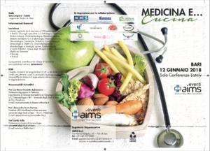 """Programma completo Congresso """"Medicina e Cucina"""""""