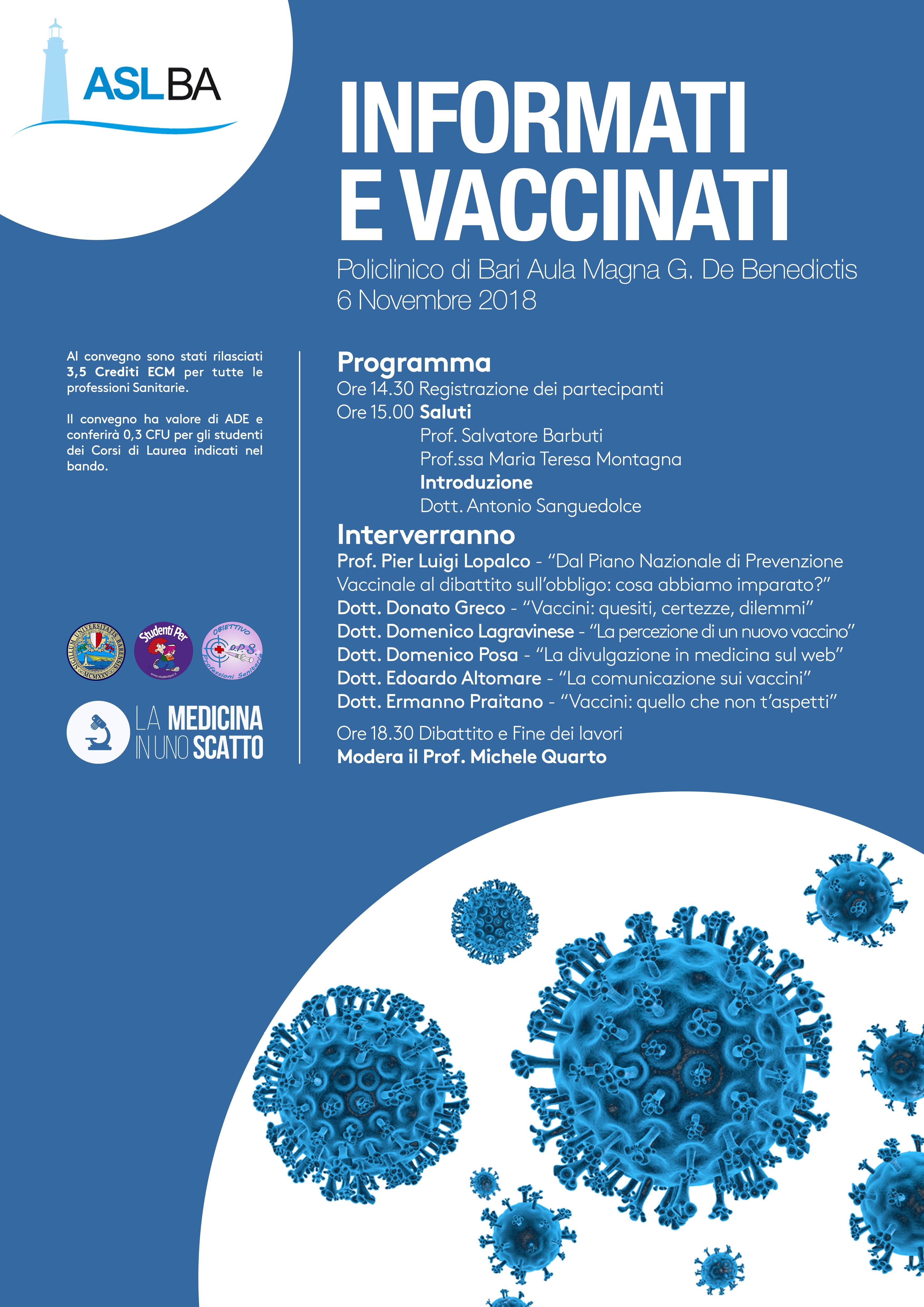 Informati e Vaccinati Locandina